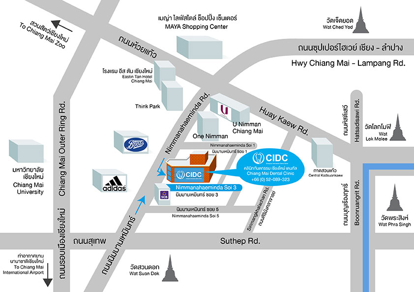 chiangmai dental map