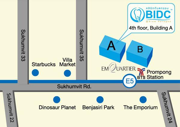 BIDC Emquartier Dental Clinic map